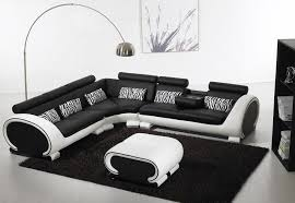 Modern Sectional Leather Sofas Black And White Leather Sofa Set For A Modern Living Room Amepac