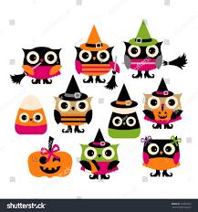 cute halloween owl vector clip art stock vector 220899520