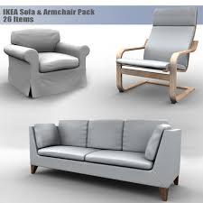Two Seater Sofas Ikea Ikea Sofa U0026 Armchair Pack By Muhsam 3docean