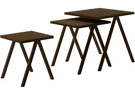 set of three end tables hiip table set of three coffee tables cappellini milia shop