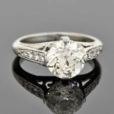 art deco style platinum diamond engagement ring 2 11ct u2013 a brandt