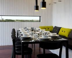 Modern Black Dining Room Sets by Small Modern Dining Room Black Wicker Frame Contemporary Yellow