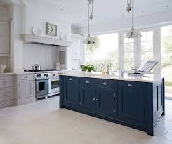 gray kitchen cabinets blue island image result for navy blue island with grey units kitchen