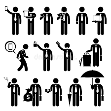 clipart uomo clipart di holding various objects dell uomo d affari dell uomo di