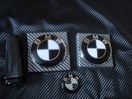 black and white bmw roundel bmw black white emblems replacement 7 pieces for f10 f10 m5