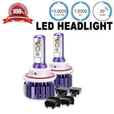 Led Head Light Bulbs by 2x Cree Purple Led Headlight Bulb Dual Beam 6000k White U H13 Hilo