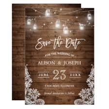 rustic save the dates rustic save the date cards