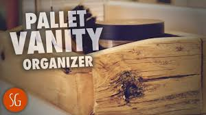 Pallet Bathroom Vanity by Let U0027s Build A Simple Pallet Wood Vanity Organizer How To Youtube