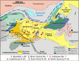 map of east canada tectonic assemblage map of eastern canada with carboniferous basin