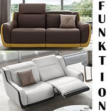 funktions sofa leder sofa couchgarnitur wohnlandschaft relaxsofa 2sitzer 2er