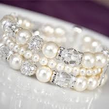crystal pearl bracelet images Opulent pearl wedding bracelets for brides trendy jpg
