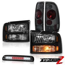 Ford Diesel Truck Black Smoke - 05 07 f250 diesel black headlights smoke red tail lights roof