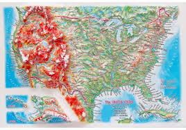 us relief map 3d relief panoramic map usa in a4 size 3d usa us states 3d