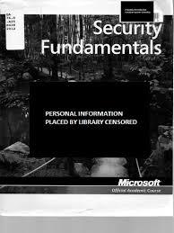 exam 98 367 security fundamentals microsoft official academic