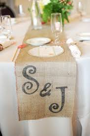 diy table runner ideas handmade illinois wedding burlap table runners burlap and stenciling