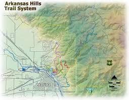Colorado Trail Maps by Arkansas Hills Trail System Salida Mountain Trails