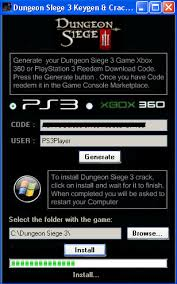 dungeon siege 3 codes dungeon siege 3 keygen