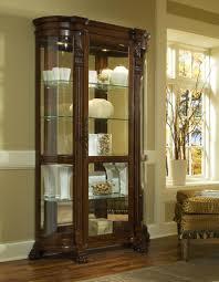 Cherry Wood Curio Cabinet Curio Cabinet Mirimyn Door Accentnet By Signature Design Ashley
