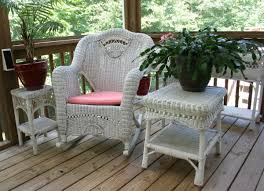 White Wicker Rocking Chair Outdoor Free Images Table Chair Idyllic Cottage Backyard Patio