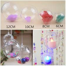 amazon com chunlin plastic round ball christmas clear bauble