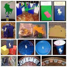 polo baby shower deluxe horsemen party package include invitations candy bags