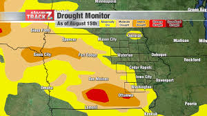 United States Drought Map by 2017 August