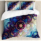 Trippy Comforters Amazon Com Mushroom Queen Size Duvet Cover Set By Ambesonne
