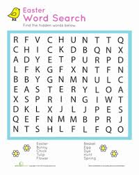 easter word search puzzle worksheet education com