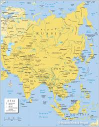 Map Of United States Physical Features by Map Of Asia Political Map Of Asia Nations Online Project