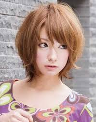 pictures of bob hairstyle for round face thin hair short messy bob hairstyles with bangs for asian women with round