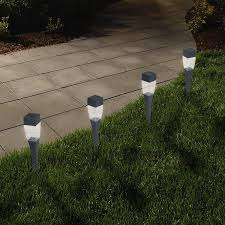 Solar Patio Lights Amazon by Solar Powered Lights Set Of 24 Low Voltage Led Outdoor Steak