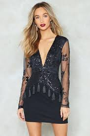 plunge dress how low can you go sequin dress shop clothes at gal
