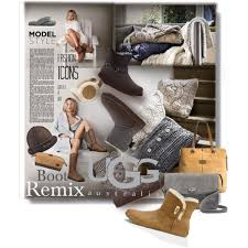 womens ugg leni boots boot remix with ugg contest entry polyvore