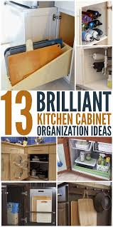kitchen cabinet storage ideas 13 brilliant kitchen cabinet organization ideas glue