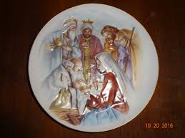 homco home interiors nativity scene collectors plate 5259