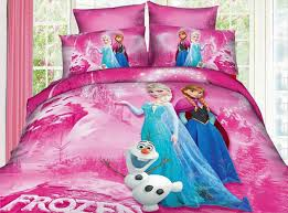 pink and purple girls bedding toddler duvet cover in frozen cartoon bedding set style