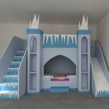 Princess Castle Bunk Bed Frozen Inspired Princess Castle Bunk Beds Or Bed With Play Area