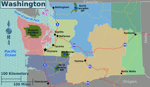 Washinton State Map by Large Regions Map Of Washington State Washington State Large