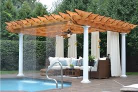outdoor room accessories luxury pools outdoor curtains for pergola