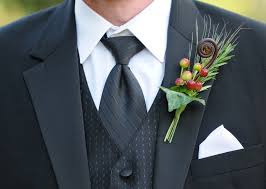 Wedding Boutonniere Fall Boutonniere