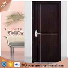 Exterior Flush Door Water Proof Wpc Wood Plastic Composited Hollow Flush Door