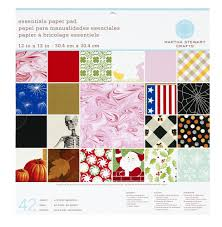 Martha Stewart Craft Paper - martha stewart crafts paper pad 12 by 12
