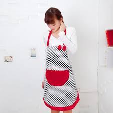 tablier de cuisine pour femme 2017 tablier de cuisine pour les femmes mignon noir dot bowknot dot