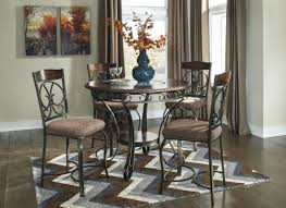 Hamlyn Dining Room Set by Glambrey Round Dining Room Counter Height Table Set From Ashley