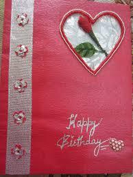 my craft work birthday card for valentine