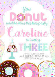 inspiring donut birthday invitations 1104