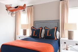 blue and orange bedding blue and orange kids room transitional boy s room munger