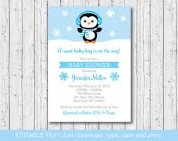 Penguin Baby Shower Decorations Penguin Baby Shower Etsy