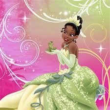 princess frog sparkle party supplies beverage napkins