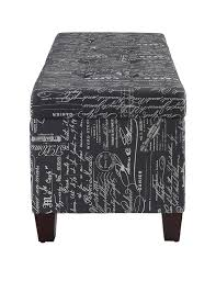 linon home decor products inc phone number amazon com linon stephanie script linen ottoman grey kitchen
